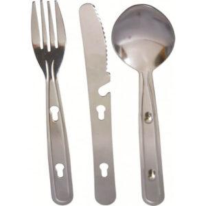 Highlander spisesæt kniv, gaffel og ske