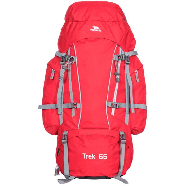 Trespass Trek 66 liters rygsæk i rød