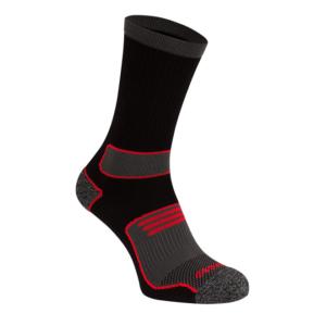 Vandresokker sport 2 par sort/rød