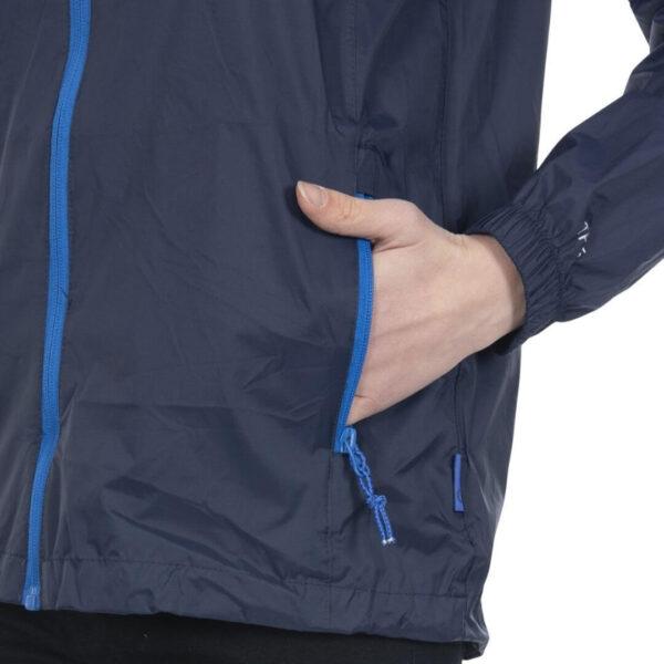 Trespass Qikpac vandtæt regnjakke unisex blå