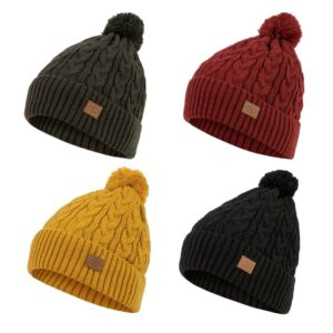 Highlander Beira Lined Bobble Hat med kvast