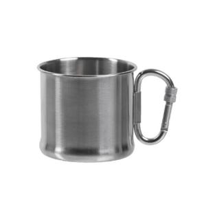 Mil-Tec Drikkekrus med karabin 500 ml rustfrit stål