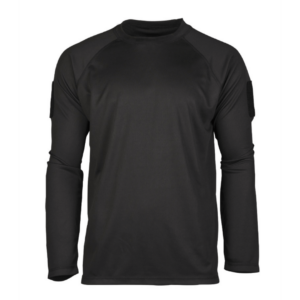 Mil-Tec tactical quick-dry langærmet T-shirt sort
