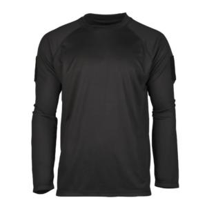 Mil-Tec tactical quick-dry langærmet T-shirt sort